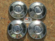 1972-79 Datsun Pickup Truck, Roadster Poverty Dog Dish Hubcaps, Set Of 4