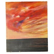 Eiko Kawakubo Seascape Oil Painting 1973 Mexican Japanese Expressionism Signed