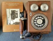 Vintage - Western Electric Wall Rotary Dial Telephone Wooden Phone / Manual