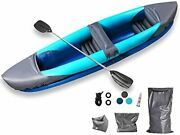 10.6ft Tandem Kayak Set With Aluminum Oars Paddle Inflatable Kayak 2 Person Boat