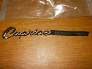 Nos1967 Caprice Trunk Lid And Caprice Station Wagon Tailgate Script