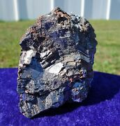 Pyrite And Galena With Sphalerite And Red Realgar Crystal Specimen For Sale