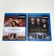 The Twilight Saga Breaking Dawn Part 1 And 2 Blu-ray New And Sealed Promo Movies