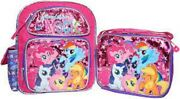 My Little Pony Friendship Magic 12 Backpack And Match Lunchbox Lunch Bag-new