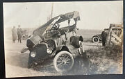 Mint Usa Real Picture Postcard Rppc Early Automobile Car Accident