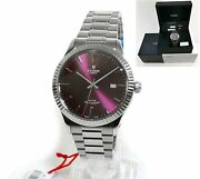 2021 Brand New Tudor Style Fluted 41mm Burgundy Dial 12710 Box Papers Stickers