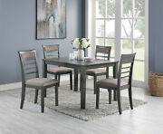 Modern Casual Antique Grey Finish 5pc Dining Set Dining Chairs Table