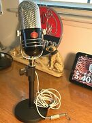 1960and039s Argonne Ar-57 Pill Microphone - Upgraded Sound W/stand Calrad-aiwa