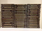 Louis L'amour Leatherette Collection Lot Of 50 Books Bantam The Sackett Brand
