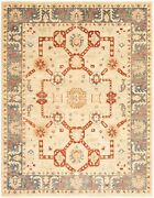 Vintage Hand-knotted Carpet 8and03911 X 11and0395 Traditional Light Grey Area Rug