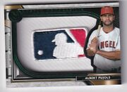 Albert Pujols 2021 Topps Museum Collection Mlb Logoman Patch Relic Angels 1/1