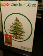 Spode Christmas Tree Train Cookie Jar Hand Painted Center Piece Mint In Box