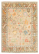 Vintage Hand-knotted Carpet 10and0390 X 13and0398 Traditional Light Khaki Wool Area Rug