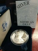 2000 P American Silver Eagle 1 Proof With Box And Coa