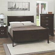 Coaster Louis Philippe Sleigh Panel Bed Red Brown