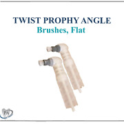 Dental Twist Prophy Angles Prophy Brushes, Flat, 90° Angle, Crosstex, White