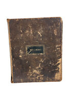 1848 Holy Bible New York American Bible Society Worn Leather Cover Testaments