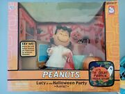 Peanuts Lucy At The Halloween Party 2003 Memory Lane Playset Mint In Box+bonus