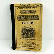Vintage 1946 Scribnerand039s Lumber And Log Book The Standard Book S.e. Fisher