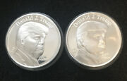- 2- 1 Oz Silver President Trump Coin Definitely One Of The Finest Designs