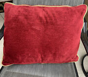 Disney Yacht And Beach Club Resort Room Bed Red Nautical Rope Pillow Prop