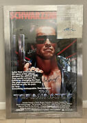 Awesome The Terminator Signed Movie Poster 6 Sigs Autographed Schwarzenegger