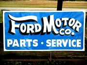 Hand Painted Antique Vintage Old Ford Motor Car Truck Auto Parts Service Sign Bl