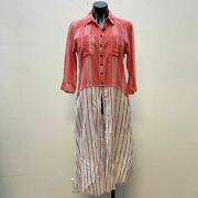 Nwt Aratta Silent Journey Red Blouse Tunic Large