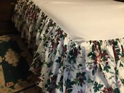 Waverly Pleasant Valley Bed Skirt Dust Ruffle Queen Shabby French Cottage Roses