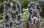Waverly Pleasant Valley Pillow Shams 2 Shabby French Cottage Roses Grapes