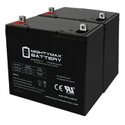 Mighty Max 12v 55ah Sla Replacement Battery For Scada Systems Agm Solar - 2 Pack