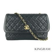 Chainshoulder Long Navy Lambskin Womenand039s Cross Body Bag From Japan
