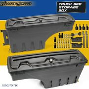 Left And Right Lockable Storage Truck Bed Tool Box Fit For Dodge Ram 1500 - 3500