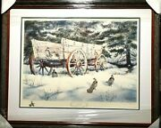Herb Booth A Winter Haven W Remarque Lithograph Grouse 1971 New Frame