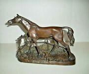 Antique Solid Bronze Horse In A Corral By Pierre Jules Mene France 1810 -1879