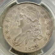 1832 Capped Bust Half Dollar Small Letters Pcgs/cac Au-58 Original