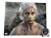 Emilia Clarke Signed And039game Of Thronesand039 Autograph 16x20 Photo Beckett Bas Got 8