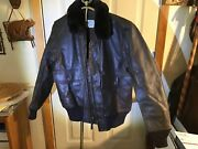 Imperial Sportsware Leather Flight Jacket Us Navy G1 Excellent Mil-j-7823eas