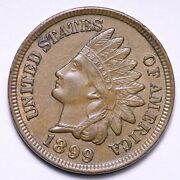 1899 Indian Head Cent Penny Choice Unc Free Shipping E835 Kcm