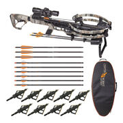 Centerpoint Archery Cp400 400 Fps Crossbow Kit With Case 9 Arrows And Broadheads