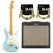 Fender Vintera And03950s Stratocaster Electric Guitar - Sonic Blue Kit1