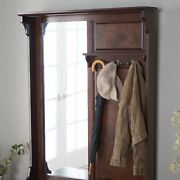 Espresso Entryway Hall Tree With Bench Coat Rack And Shoe Storage