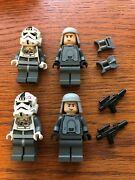 2021 Lego Star Wars Set 4 Hoth Minifigures -2 At-at Pilots And 2 Imperial Officers