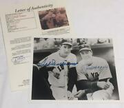Ted Williams / Joe Dimaggio Signed / Autographed 8x10 Photo - Jsa Authentication