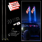 5ft Rgb Lighted Led Antenna Whip Light Offroad For Jeep Polaris Rzr Atv Cree Suv