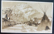 Mint Canada Real Picture Postcard Canadian Pacific Railway Banff Avenue
