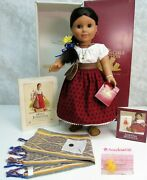 American Girl Pleasant Company Doll Josefina In Meet Outfit Necklace Coin Box +