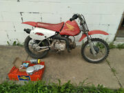 2000 Honda Xr70r Motorcycle Mostly Complete Needs Work W/ Some New Parts.