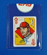 2021 Topps 1951 Topps By Blake Jamieson 1 Mike Trout On Card Auto /51