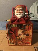 Enesco Twas' The Night Before Christmas Musical Jack-in-the-box Selling As Is